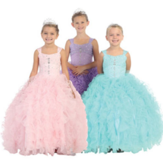 Pageant & flowergirl Dresses