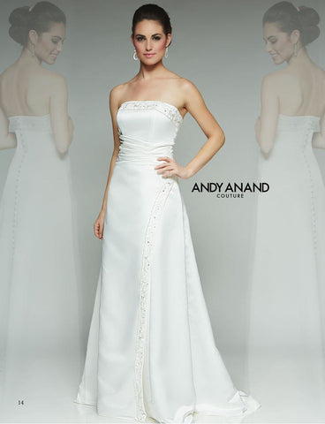 SATIN A-line ball gown wedding dress
