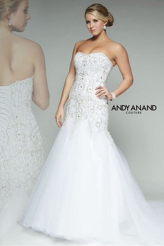 BEADED FIT & FLARE wedding dress