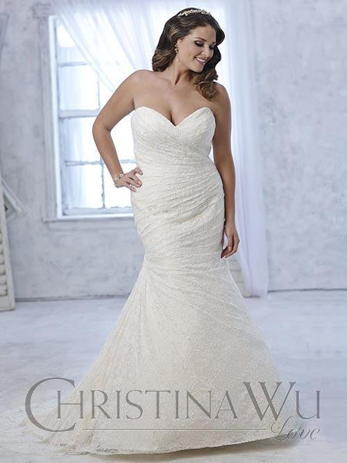 Lace Plus size wedding dress lace mermaid trumpet gown