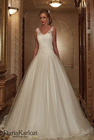 Lace wedding dress ball gown A-Line