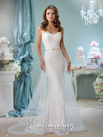 2016 Enchanting A-Line Cage Wedding Gown Collection By Mon Cheri