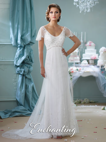 2016 Enchanting A-Line Wedding Gown Collection By Mon Cheri