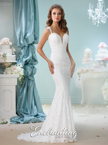2016 Enchanting Lace Trumpet Wedding Gown Collection By Mon Cheri
