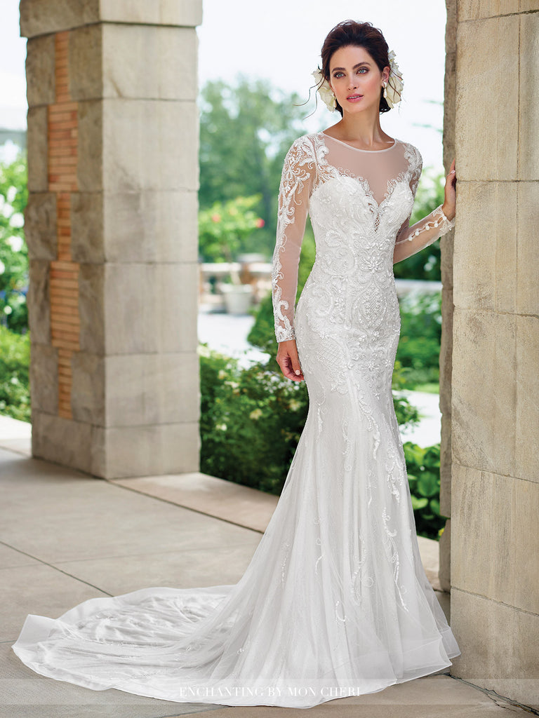 2017 Enchanting Fit and Flare Wedding gown Collection By Mon Cheri