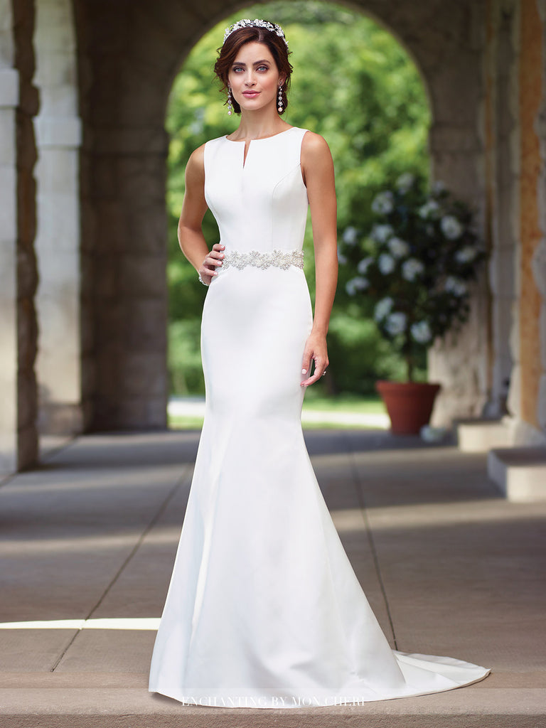2017 Enchanting Sleeveless Satin Mermaid Wedding gown Collection By ...