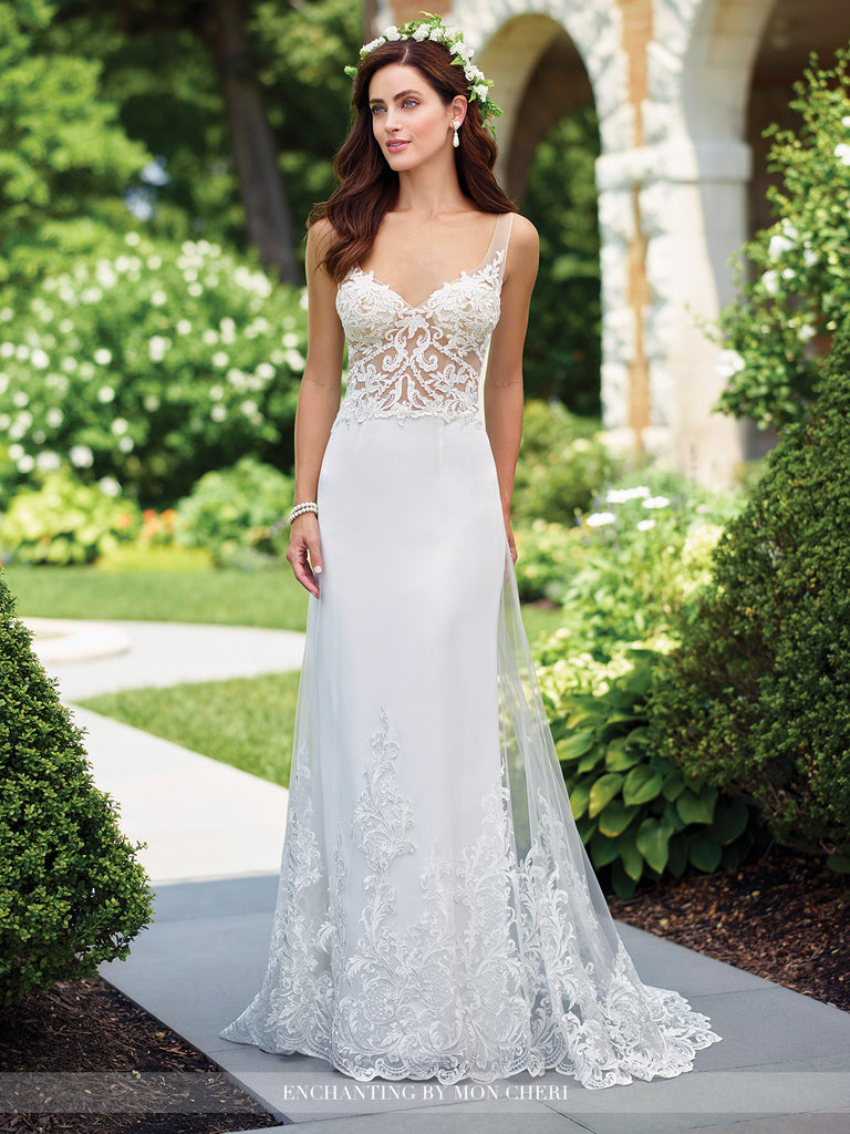 c8eb6aaa991 2017 Enchanting A-line Wedding gown Collection By Mon Cheri – Bela Bridal