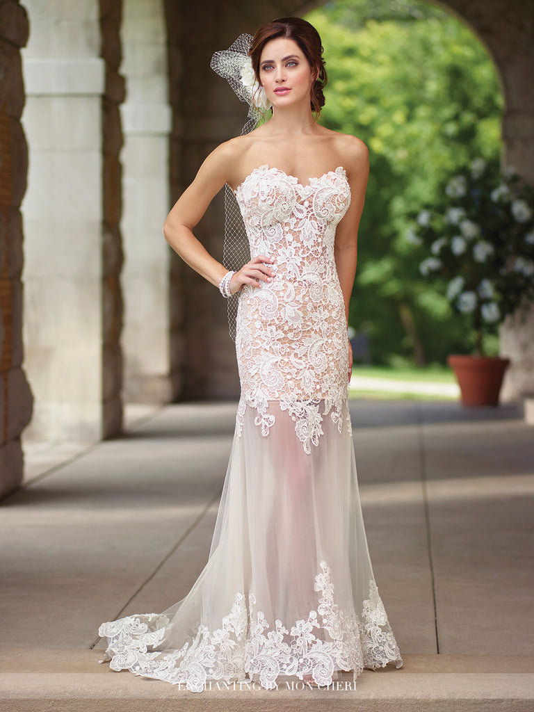 2017 Enchanting Strapless Wedding gown Collection By Mon Cheri