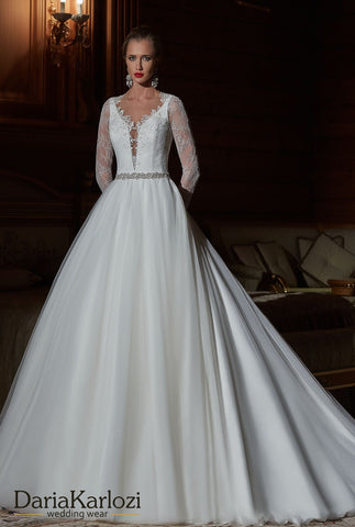 Lace wedding dress ball gown A-Line long sleeve