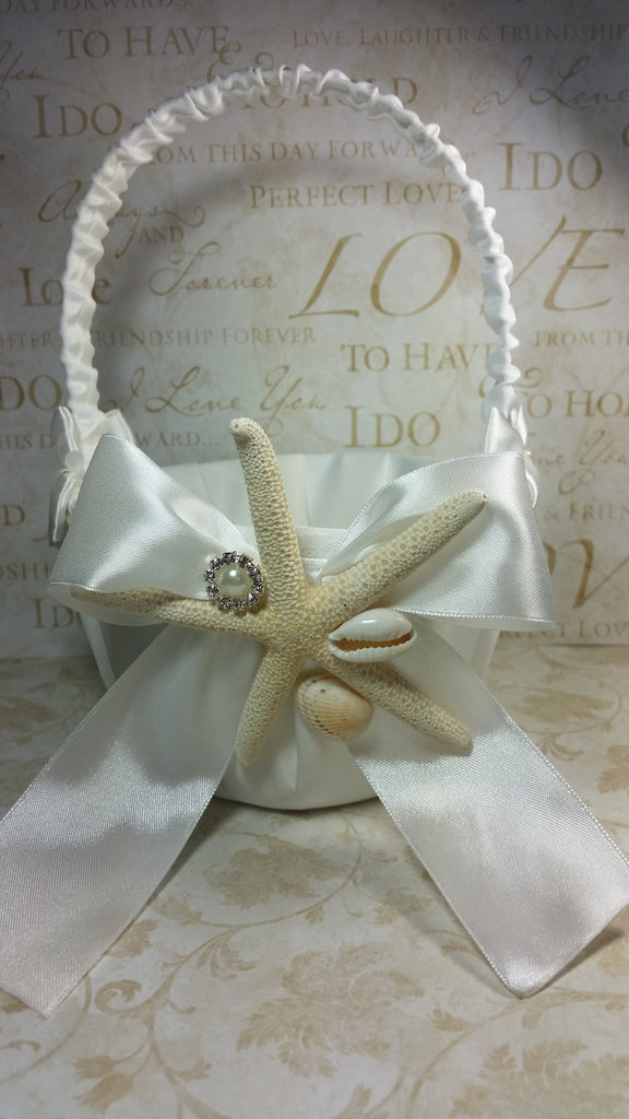 Wedding accessories flower girl basket sea shell