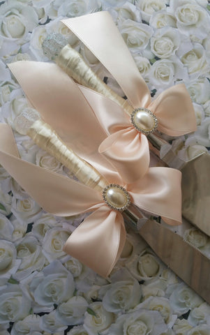 Wedding accessories cake server knife set