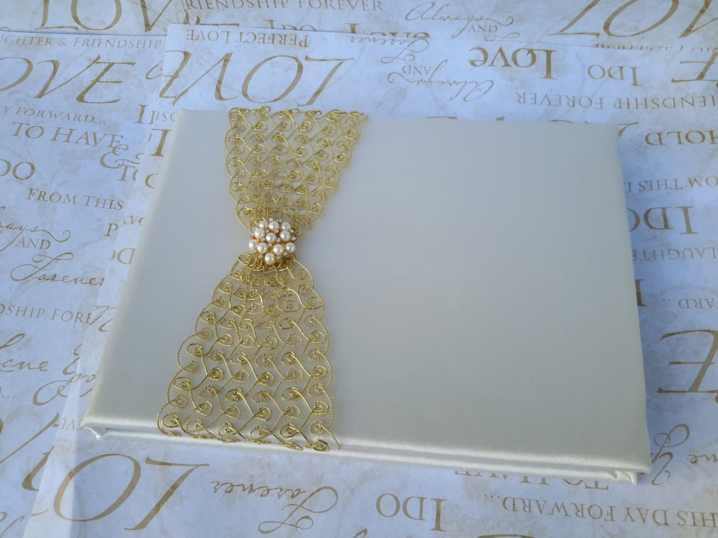 Wedding accessories guest book