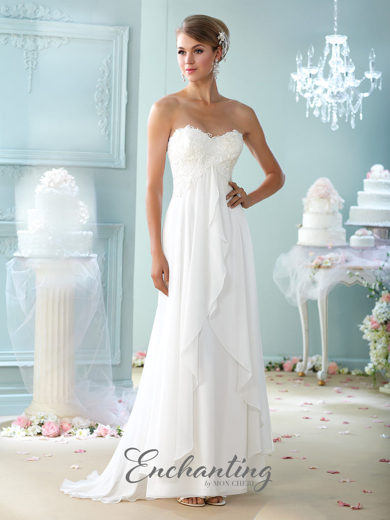 Designer lace chiffon satin tulle A-line ball gown wedding dress