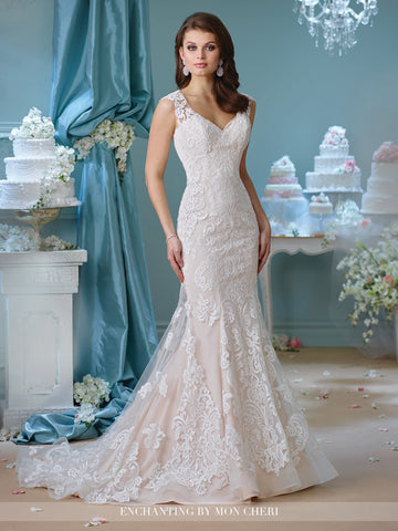 Designer lace wedding dress