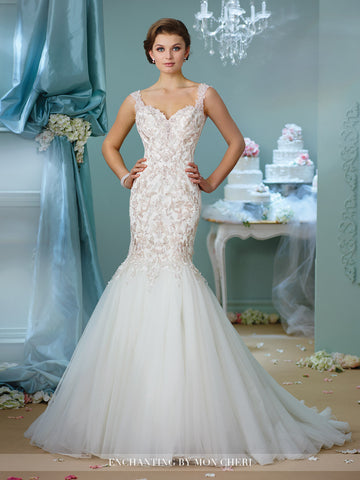Designer lace Mermaid wedding dress