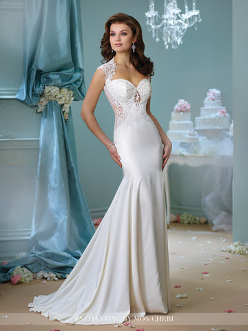 Designer lace gown wedding dress