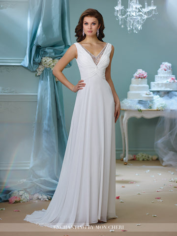 Designer lace chiffon wedding dress
