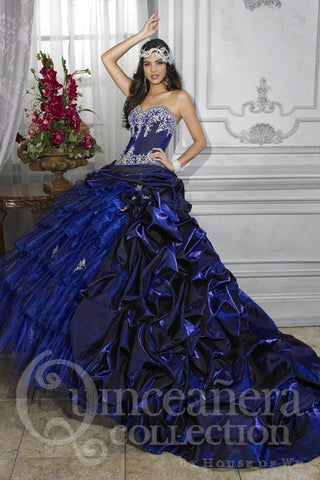 Blue quinceanera dress