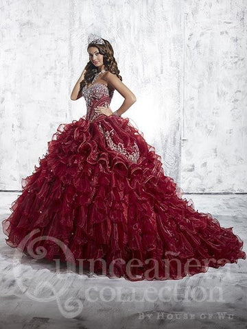 Beautiful quinceanera, sweet 16, engagement ball gown by House of Wu..