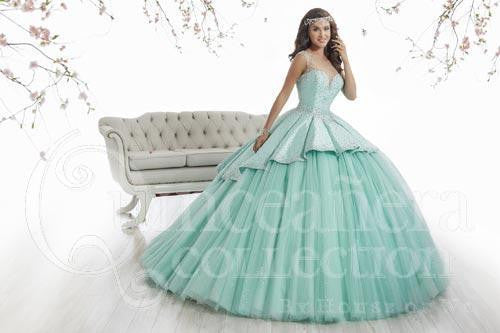 Beautiful quinceanera, sweet 16, engagement ball gown dress by designer House of Wu
