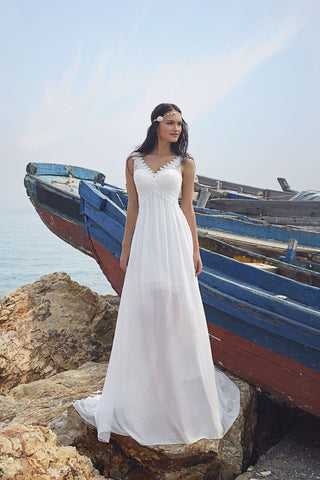 Chic Nostalgia lace chiffon satin tulle A-line ball gown wedding dress