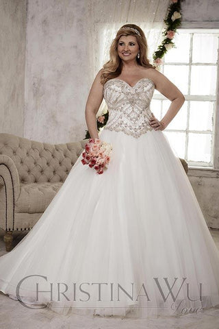 Lace Plus size wedding Dress lace ball gown