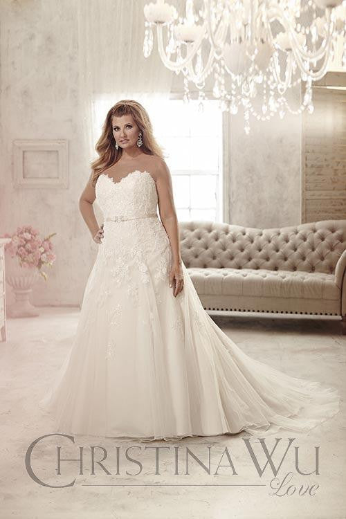 Lace Plus size wedding dress mermaid trumpet ball gown