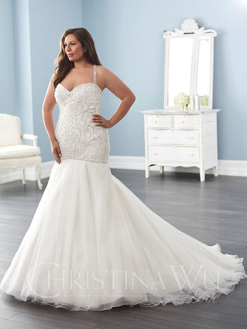 Lace Plus size wedding Dress lace mermaid trumpet ball gown – Bela ...