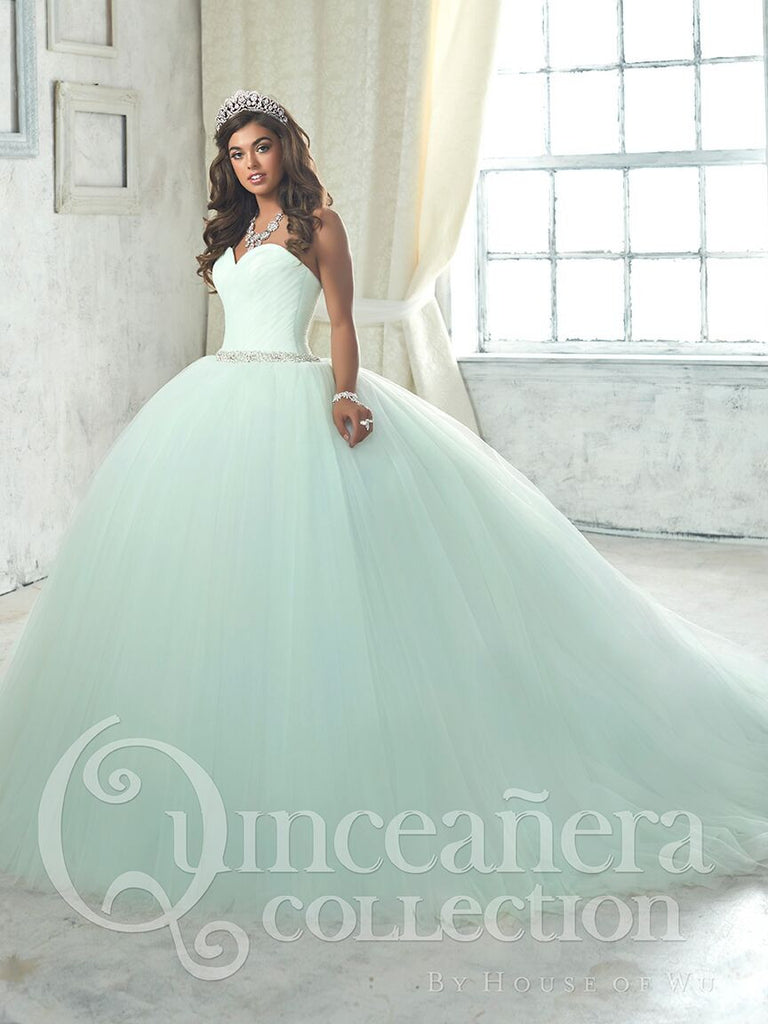 2017 Beautiful quinceanera, sweet 16, engagement ball gown dress by designer House of Wu