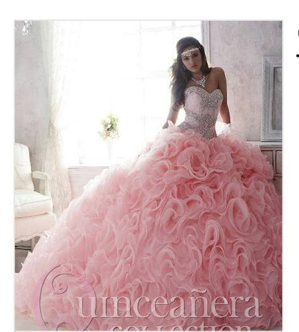 Beautiful quinceanera, sweet 16, engagement ball gown dress designed by House of Wu..