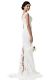 Wedding dress lace CAP SLEEVE, SWEETHEART NECK, TRUMPET
