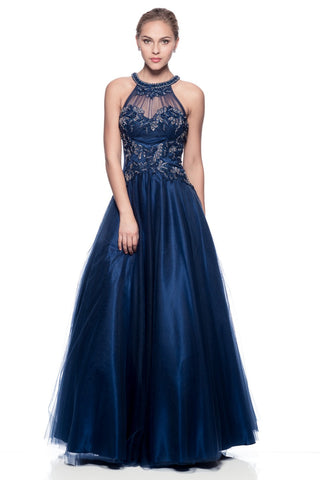 Prom & Evening Lace Beaded Dress