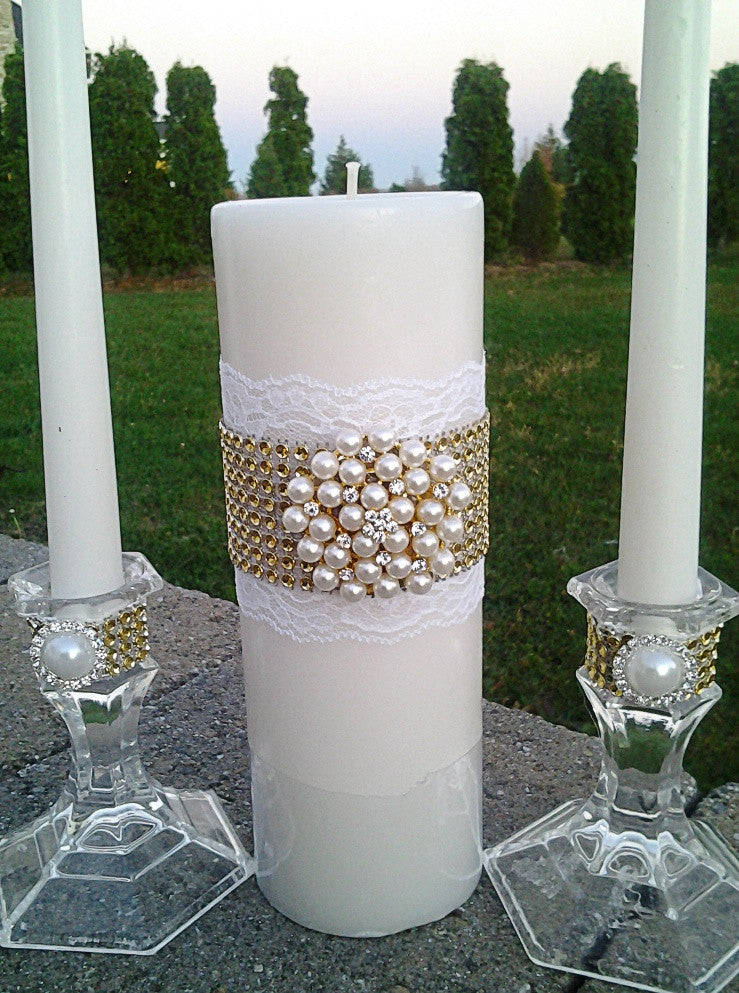 Wedding accessories unity candle set