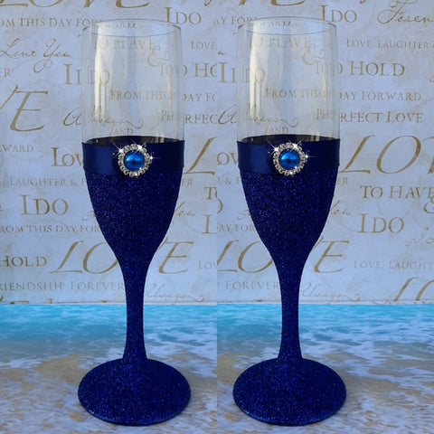 Wedding accessories 2 pcs champagne glasses