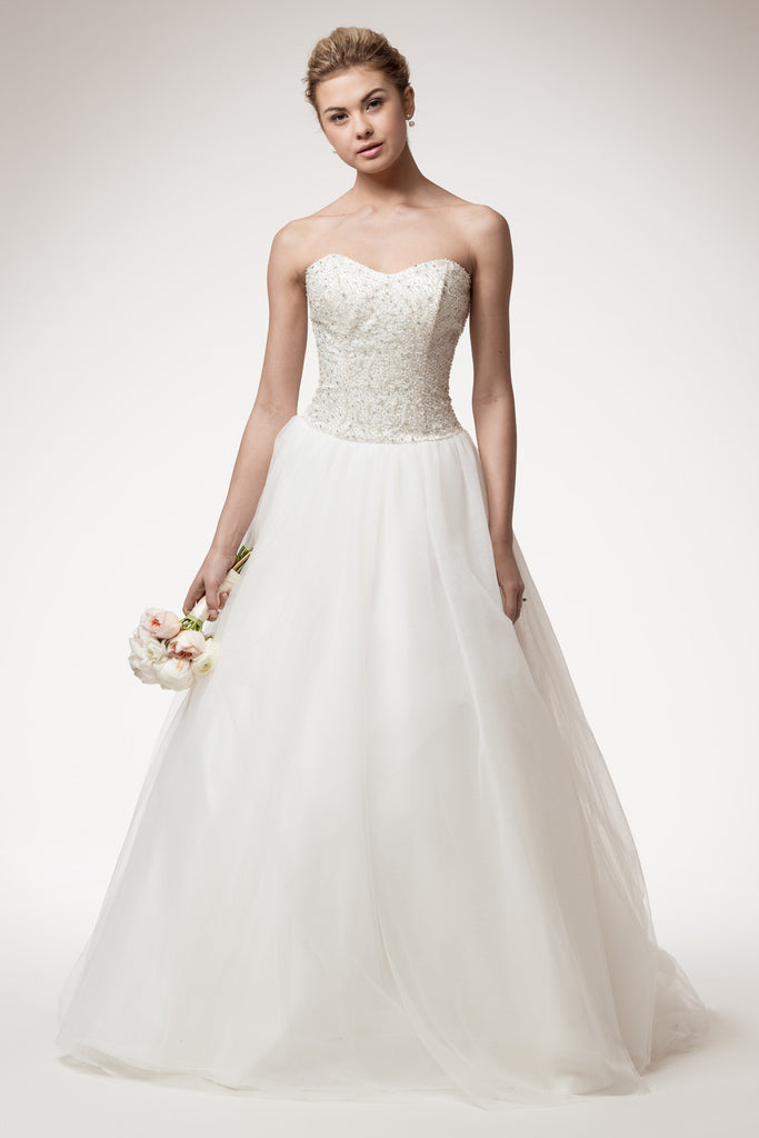 Wedding dress lace STRAPLESS, SWEETHEART, BALL GOWN