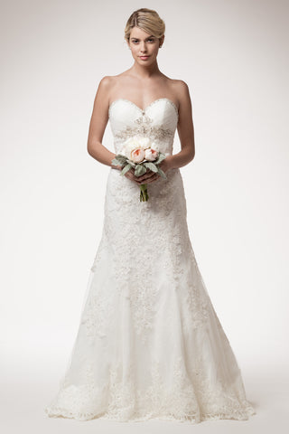 Wedding dress lace A-line SWEETHEART, STRAPLESS, MERMAID