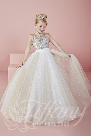 Beautiful Pageant, Flower Girl,  ball gown dress by Tiffany Princess