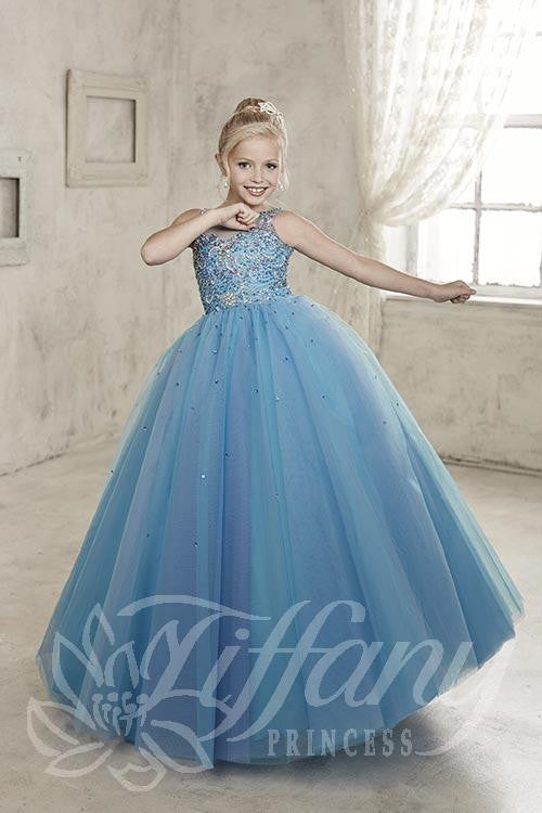 Beautiful Pangent, flower girl long dress by Tyffany Princess