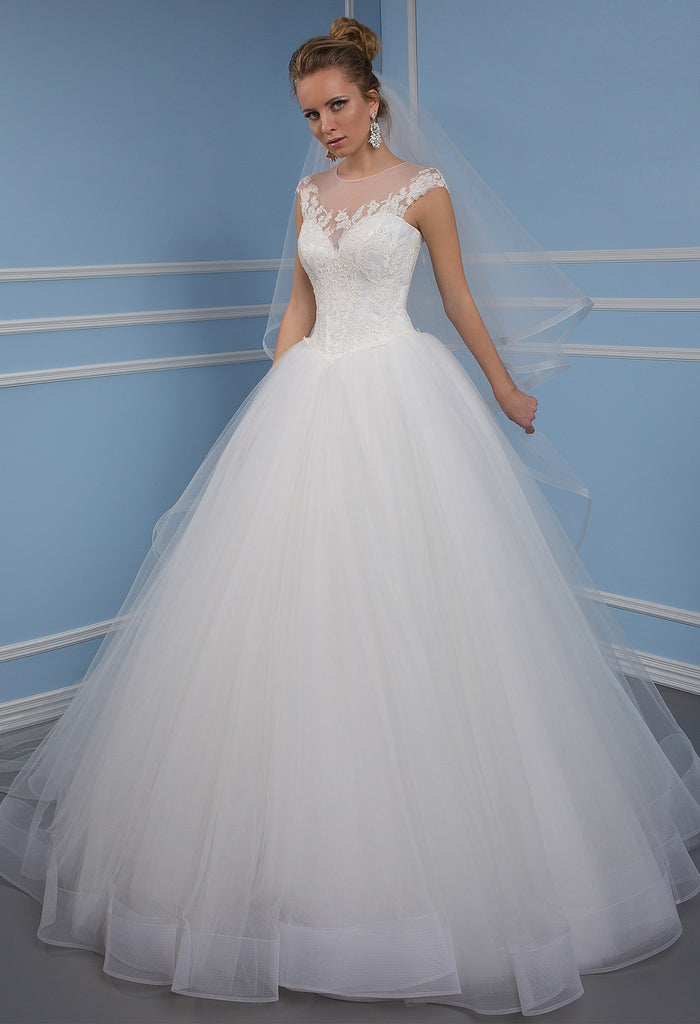 Lace Tulle Princess Ball Gown Lace A Line Wedding Dress