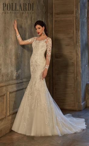 Lace trumpet mermaid long sleeve Wedding Dress