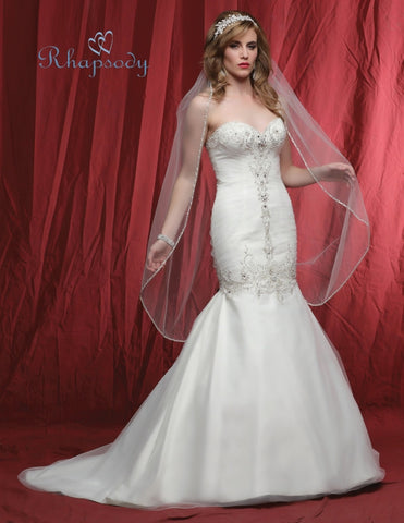 Designer lace beading A-line ball gown wedding dress
