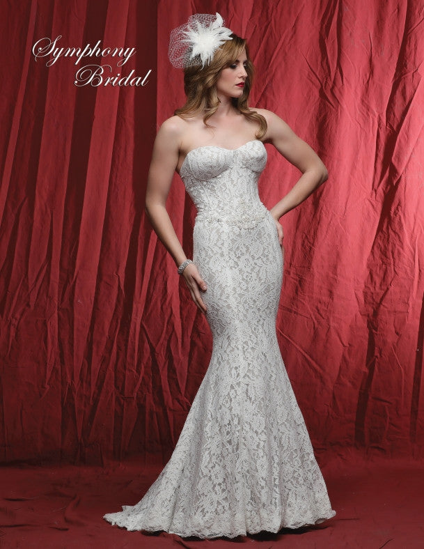 Lace beading MERMAID wedding dress