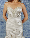 Satin beading mermaid wedding dress