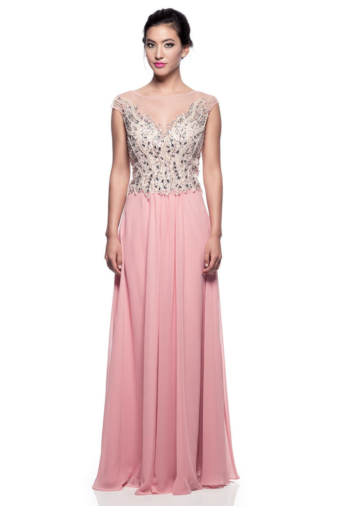 Mother Of The Bride Lace beaded satin chiffon Long Gown Dress.