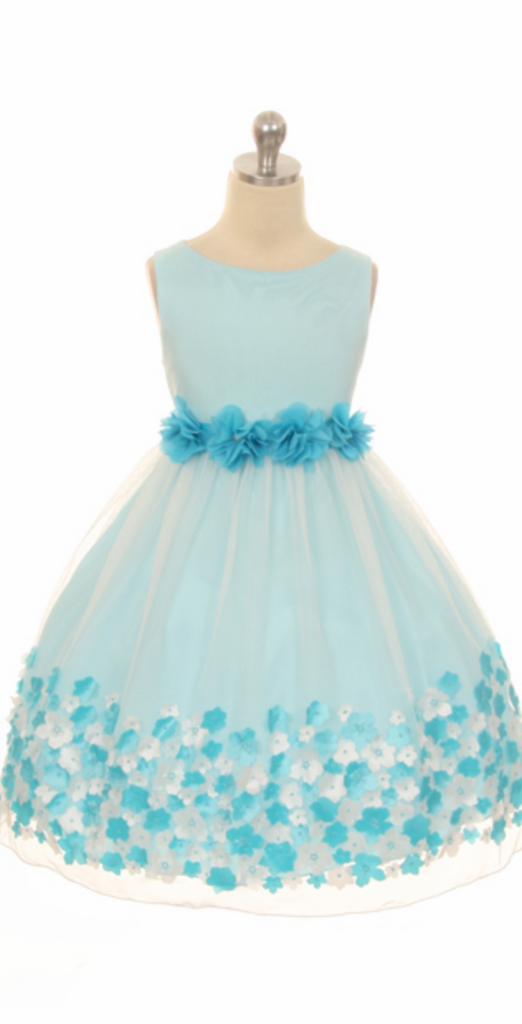 Flower girl communion lace chiffon dresses