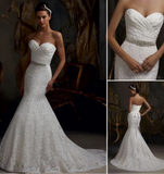 BRIDAL STRAPLESS TRUMPET WEDDING DRESS
