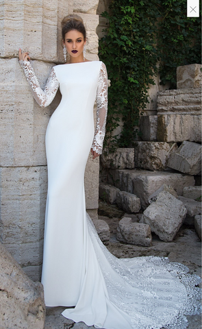Wedding Gown designer Ida Torez memail fit & flare