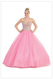 Quinceanera, sweet 16, engagement ball gown dress designer