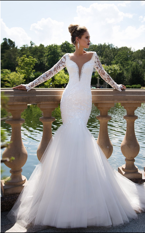 Wedding dress lace by  Designer Torez