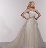 Wedding dress lace beaded ballgown  Designer